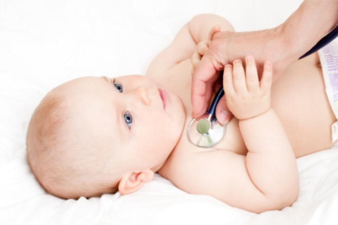 baby stethoscope heart test